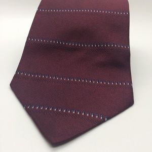 Burgundy Tommy Hilfiger Men's Striped Necktie
